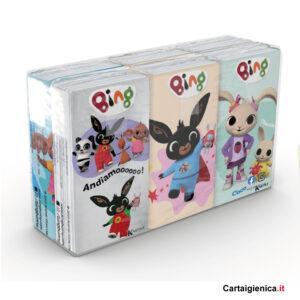 fazzoletti bing kartika style bambini fazzoletti di carta colorati 6 pacchetti