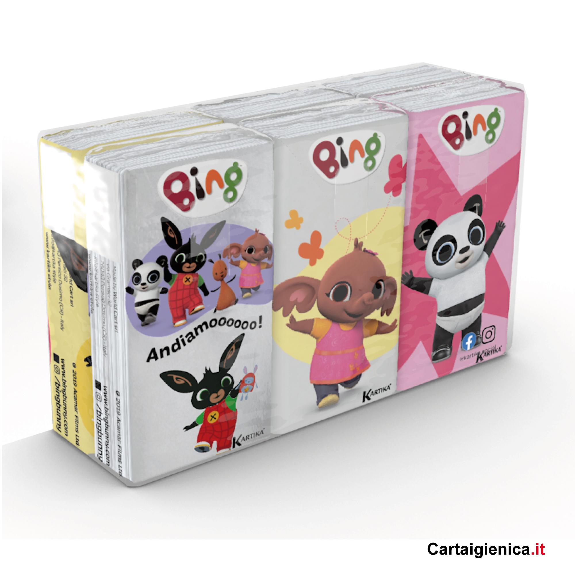 fazzoletti bing kartika style bambini fazzoletti di carta colorati pacchetti 6