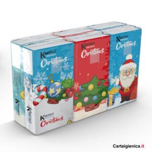 fazzoletti natale christmas kartika style bambini fazzoletti di carta colorati 6 pacchetti regalo