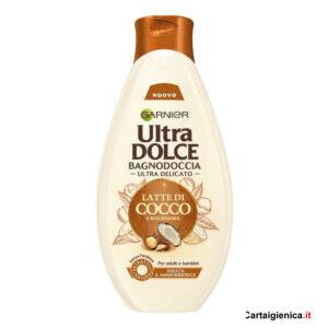 garnier ultra dolce bagnodoccia latte di cocco e macadamia 500 ml