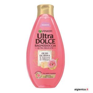 garnier ultra dolce bagnodoccia olio di rosa 500 ml