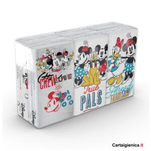 Kartika Stay True Personaggi Disney - 1 confezione - 6 pacchetti - 9 fazzoletti a pacchetto - 4 veli