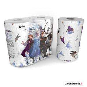 Kartika Frozen II - 2 Rotoli Carta Cucina Asciugatutto colorata bambini tavola festa