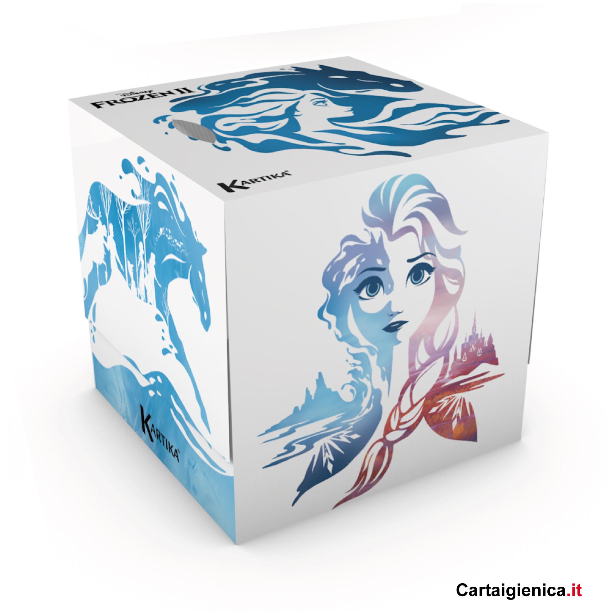 kartika veline frozen box cubo fazzoletti per bambini colori regalo