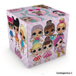 kartika veline Lol Surprise box cubo fazzoletti per bambini colori regalo