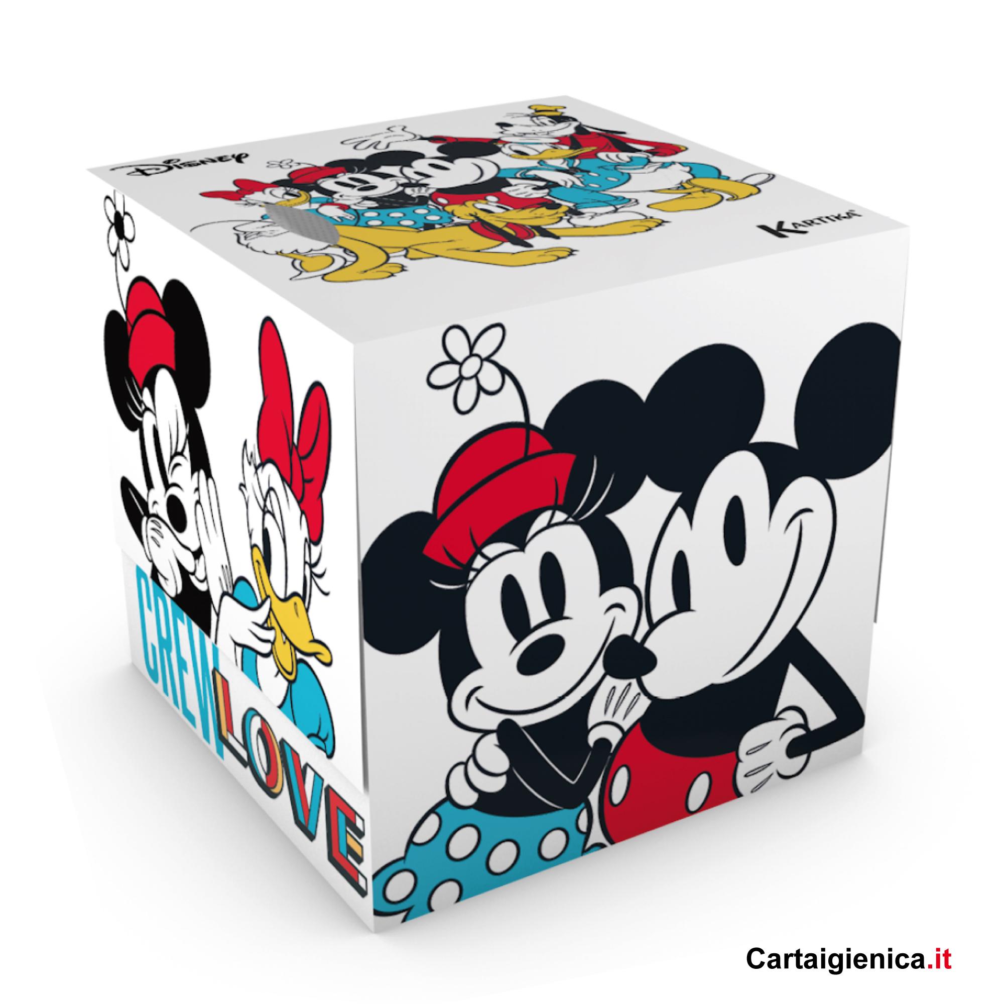 kartika veline stay true disney box cubo fazzoletti per bambini colori regalo