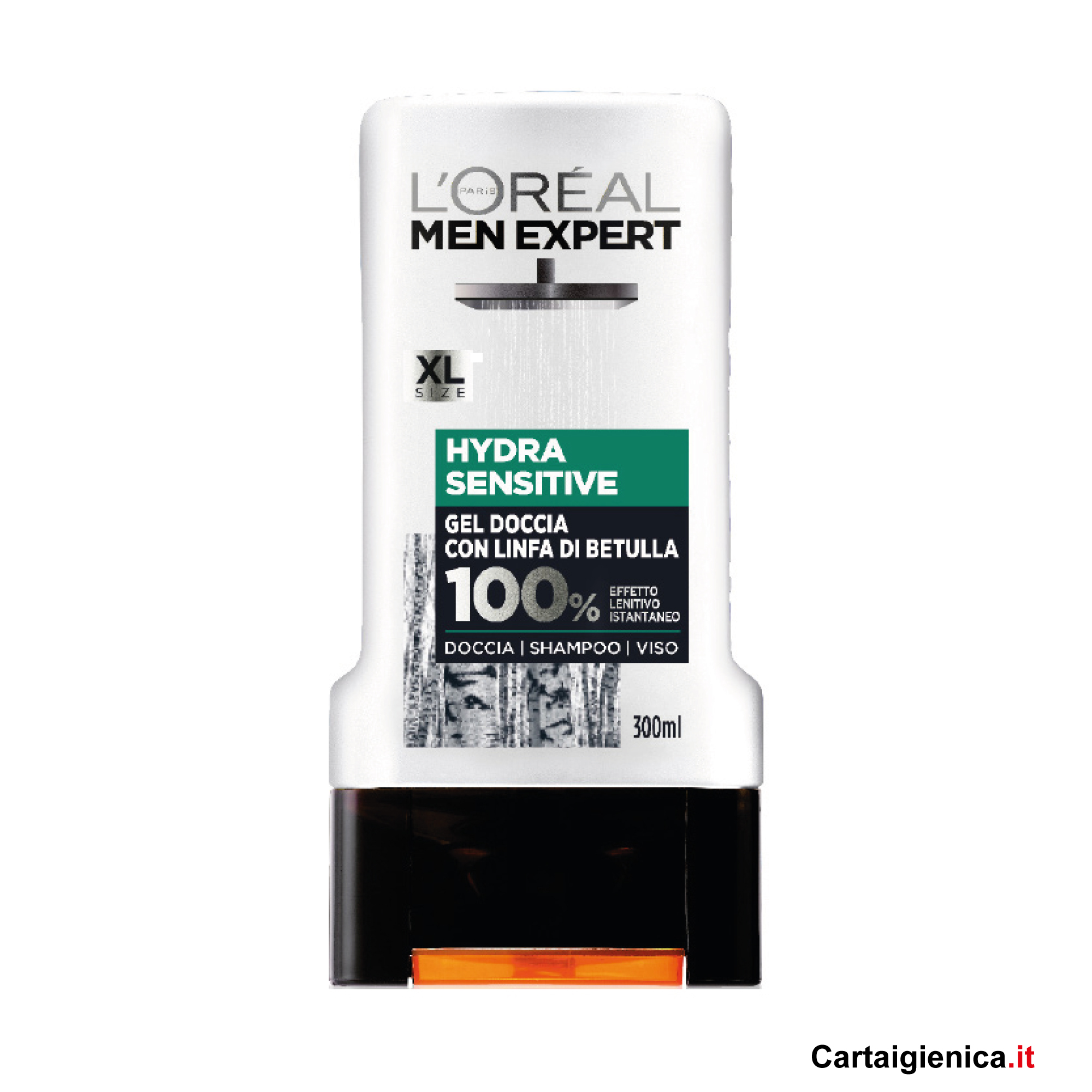 loreal men expert hydra sensitive gel doccia shampoo viso 300 ml