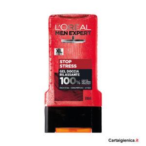 loreal men expert stop stress gel doccia rilassante shampoo viso 300 ml