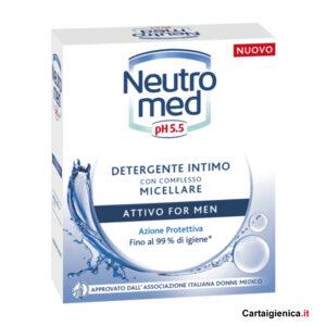 Neutromed Detergente Intimo con Complesso Micellare Attivo for Men ph 5.5 Azione Protettiva - 200 ml