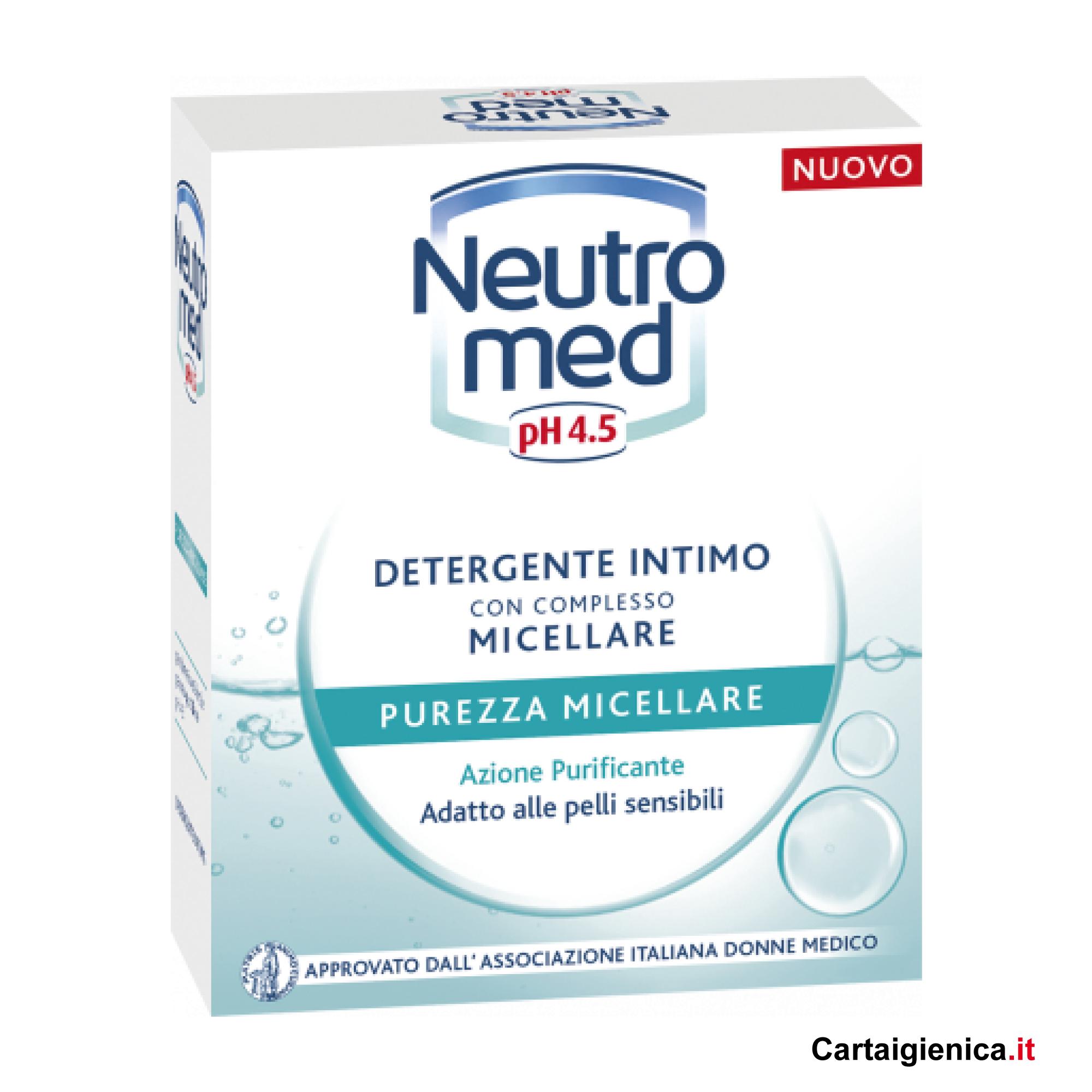 Neutromed Detergente Intimo con Complesso Micellare Purezza Micellare Azione Purificante ph 4.5 - 200 ml