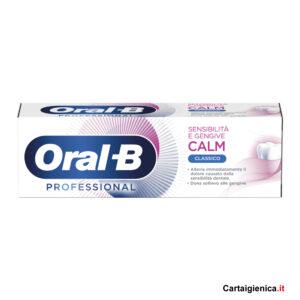 oral-b dentifricio calm classico prevenzione denti gengive professional