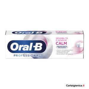 oral-b dentifricio calm delicato professional prevenzione cura denti