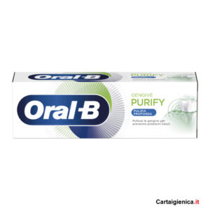 oral-b dentifricio purify pulizia profonda gengive prevenzione cura denti