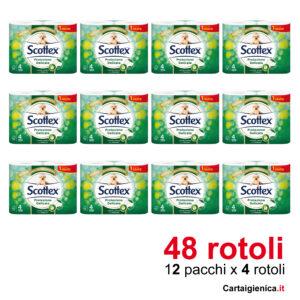 scottex carta igirnica protezione delicata 16 rotoli 12 pacchi offerta