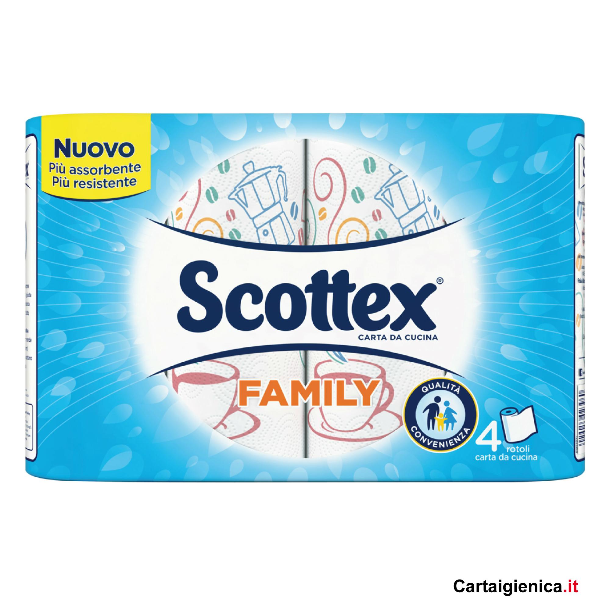 SCOTTEX FAMILY CARTA CUCINA 4 ROTOLI 1 pacco - 4 rotoli