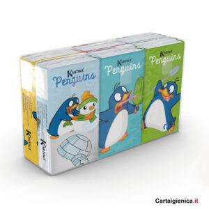 kartika style fazzoletti penguins colorati bambini festa