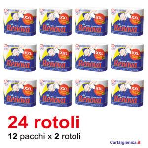 Renova carta cucina 24 rotoli 12 confezioni da 2 rotoli