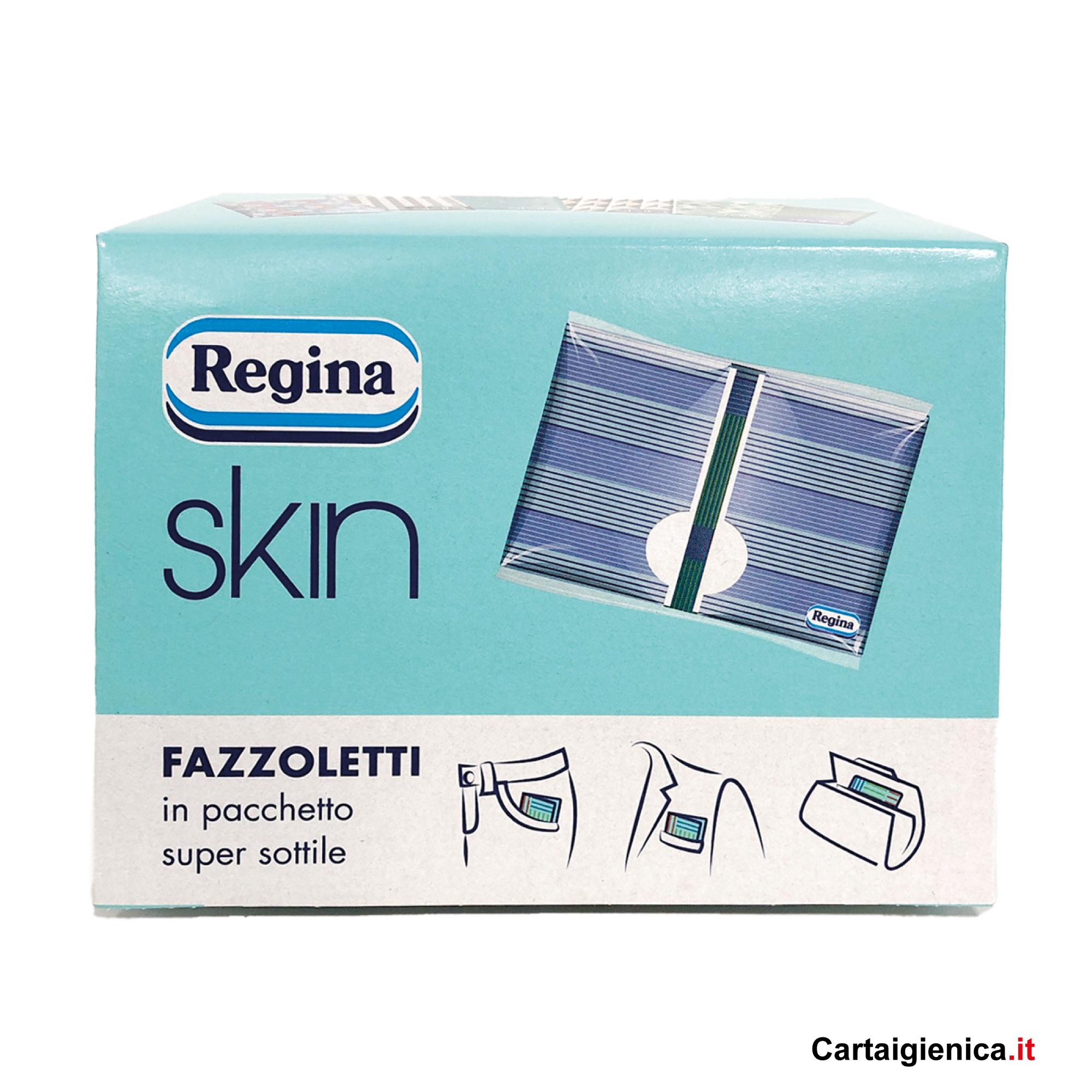 Regina Skin - 1 scatola - 6 pacchetti - 10 fazzoletti a pacchetto - 4 veli