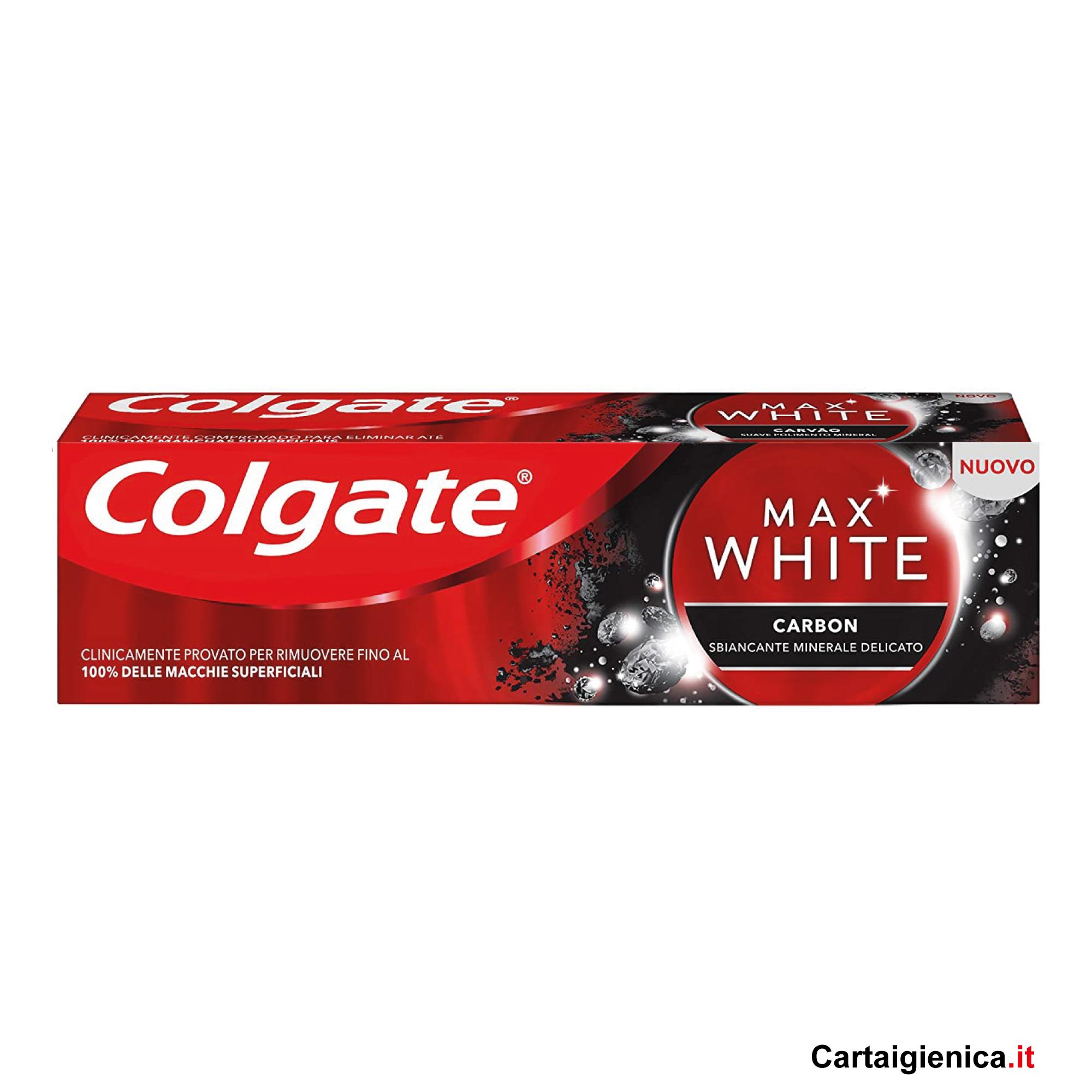 colgate dentifricio max white carbon 75 ml