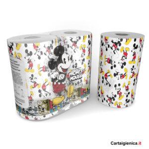 Kartika Mickey Mouse Edition - 2 Rotoli Carta Cucina Asciugatutto