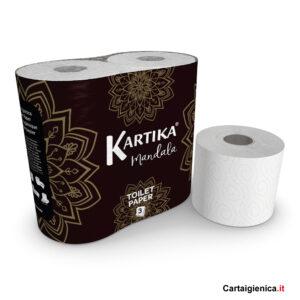 Kartika Mandala White carta igienica 3 veli bianca 4 rotoli 200 strappi