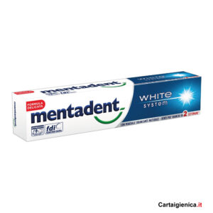 Mentadent Dentifricio White System Classico 75 ml