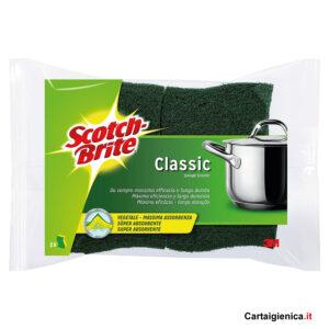 Scotch Brite Classic Vegetale 1 pacco con 2 Spugne