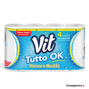 Vit Tutto Ok - Asciugatutto - 4 Rotoli Carta Cucina